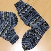 Socken, blau print
