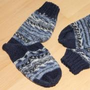 Socken, blau / blau print
