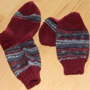 Socken weinrot mit Jubilee