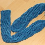 Spiralsocken blau